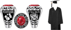 CSArts-SGV Senior Package Traditional Ring & Cap and Gown